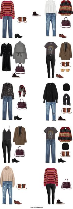 What to Pack for Milan, Italy Packing Light List Outfit Options 11-20 #packinglight #travel #travellight #packinglist #capsule #capsulewardrobe #livelovesara