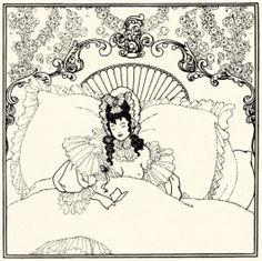 Aubrey Vincent Beardsley - Illustration zu »Der Lockenraub« von A. Pope, Billet-Doux