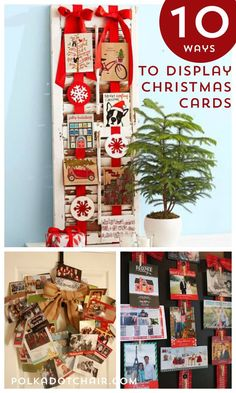 10 Ways to Display Christmas Cards