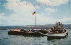 Pearl Harbor USS Arizona    Before the 1961 memorial was built