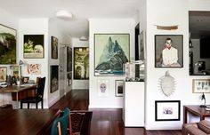 A maximalist look with a minimalist heart: Guy Maestri's eclectic gallery wall