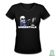 DIY Undertale Logo Women's V Neck Short Sleeves Tees