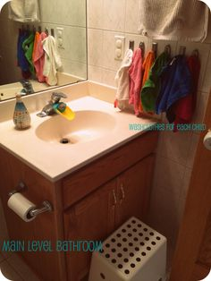 Daycare bathroom - This is a great site about a home day care where she shares tons of amazing ideas. I will be checking this one out a lot.
