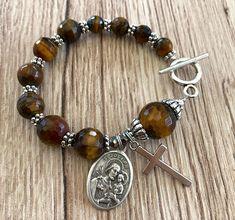 Rosary Bracelet Saint Joseph Charm