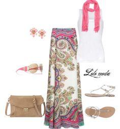Lolo moda: Springy maxi skirt, www.lolomoda.com
