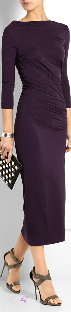 So classy.  Vivienne Westwood ● Grape midi dress via @theatoria. #dresses #grape