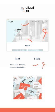 Brand identity - Branding - Huisstijl voor Vitaal&zo door Studio Sowieso Identity Branding, Font Styles, Font Family, Map, Studio, Location Map, Branding, Study, Maps