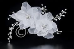 Organza Flowers Bridal Hair Clip