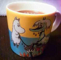 Todays Moomin mug. Moomintrollet together with Primadonna's horse. Moomin Mugs, Horse, Museum, Coffee, Tableware, Kaffee, Dinnerware, Dishes, Horses