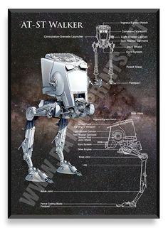 AT-ST Walker, Star Wars Poster