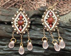 Women's Earring Ladies Gemstone Beads Jewelry by OhlalaJewelry, $60.00