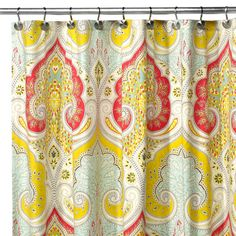 Echo Design™ Jaipur Fabric Shower Curtain  love this for the dark basement bathroom