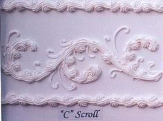 c-scroll side design on cake