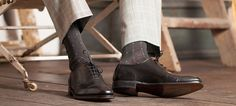 We answer the quandary every man faces every morning. So you need no longer fear the ankle # FactoryDirect Matching Socks, Match Me, Sock Shoes, Riding Boots, Gentleman, Man Faces, Trousers, Menswear, Mens Fashion