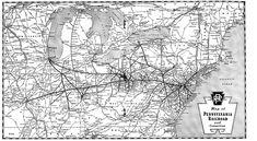 Pennsylvania Railroad Map.