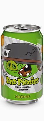 Karkkien, limpparien ja kaikenlaisten mässyjen arvostelublogi: Juoma-arvostelu: Olvi Angry Birds Bad Piggies