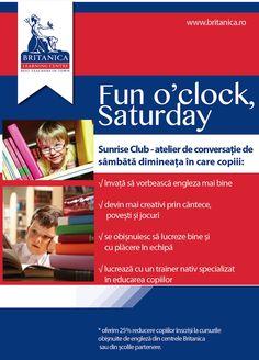 Club de sambata in engleza pentru copii.