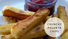 Crunchy polenta chips with spicy tomato sauce and five more great chip recipes