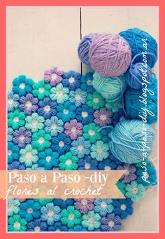 Embroidery Flower Patterns Crochet Puff Flower Blanket Free Pattern The WHOot - You will love to make this Crochet Puff Stitch Flower Pattern and you can make all sorts of fabulous creations with it. Watch the video now. Puff Stitch Crochet, Crochet Puff Flower, Crochet Flower Patterns, Crochet Blanket Patterns, Cute Crochet, Crochet Crafts, Yarn Crafts, Crochet Flowers, Crochet Blanket Flower