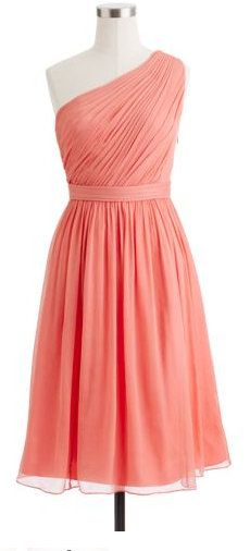 Kylie Dress in Coral - 25% off gowns, bridesmaid dresses & bridal accessories. #jcrewwedding