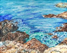 Rockpools by Debbie Cullis - Paint a seascape or harbour scene to win copies of David Bellamy books from Search Press Painting Competition, Seascape Paintings, Craft Activities, Scene, Gallery, Illustration, Artist, Outdoor, Outdoors