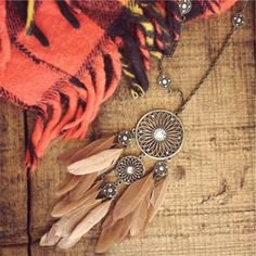 acolline's save of Teton Feather Necklace, Sparkling Country Jewelry on Wanelo