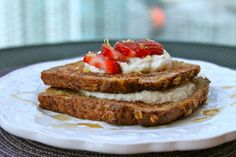 Stuffed Strawberry French Toast that is light and good for you!