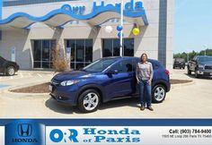 https://flic.kr/p/x7fTfY | Congratulations Gina on your #Honda #Hr-V from Tyler  Bush at Orr Honda of Paris! #NewCar | www.deliverymaxx.com/DealerReviews.aspx?DealerCode=G978
