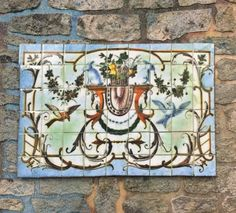 Baroque Style Rabbit & Bird Tile Mural Available Sizes: 1 3/4 x 2 3/8 1 7/8 x 2 3/4 2 1/2 x 4 1/4 54 Tiles For your miniature project or doll