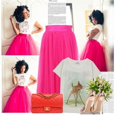 """""""Dark Pink For a Bright Day!"""" by bklana on Polyvore"""