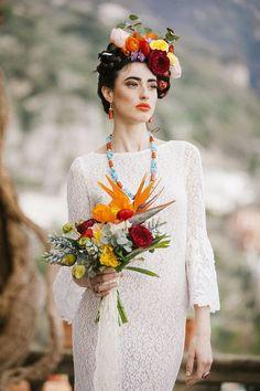 Frida Kahlo inspired wedding on the Amalfi Coast Luxury Wedding, Dream Wedding, Destination Wedding, Frida Kahlo Wedding, Wedding Colors, Wedding Styles, Amalfi Coast Wedding, Spanish Wedding, November Wedding