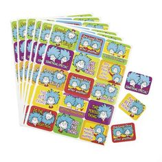 Dr Seuss Thing 1 and Thing 2 Success Stickers - PipSqueak