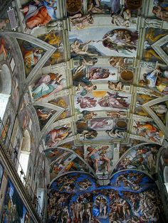 . The Sistine Chapel, Italy -I cannot imagine standing under the masterpiece that is the Sistine chapels ceiling. done