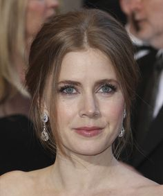 Amy Adams Hairstyle - Formal Updo Long Straight Hairstyle