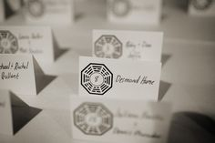 real #Jewish #wedding #escort cards http://www.themodernjewishwedding.com/monday-morning-inspiration-fun-with-escort-cards