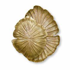PASSION::Loftasia design unique  gold wall scone ornament leaf bronze luminous abstract contemporary decorative