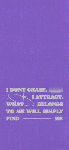 ⭐️I don't chase I attract⭐️