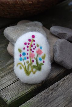 Summer Flowers Felted Soap Fine Merino Wool Bouquet Lavender,Grape Seed Oil & Lemongrass, Cranberry, Gift