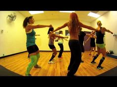 ▶ Thriller - Michael Jackson Zumba with Mallory HotMess - YouTube  I like this one mixed with my original