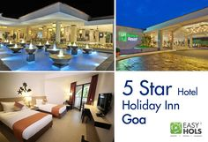 Ultimate luxury assured with a stay at 5 Star Hotel Holiday Inn Goa.