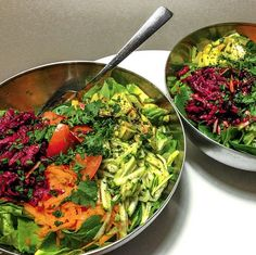 """Big epic raw salads! With erbzzz  grated veggies""- Loni Jane on Instagram."
