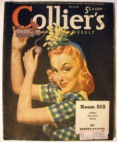 Collier's Magazine May 18 1940 Jon Whitcomb Cover Art
