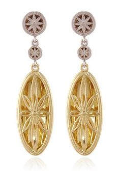 Double Drop Sunne Earrings In Gold With Graduated Diamond Pave Tops by BENNEY for Preorder on Moda Operandi