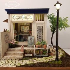 #dollhouse #miniature #handmade #flowerlovers #flowershops #꽃집#꽃가게 #27×28×25