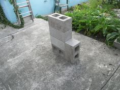 ... with chimneyblocks and fire box added to form five block rocket stove