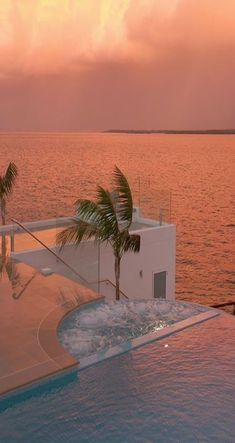 Luxury Poolside In Santorini, Greece at Sunset Nature Aesthetic, Beach Aesthetic, Travel Aesthetic, Summer Aesthetic, Best Places To Honeymoon, Greece Honeymoon, Beautiful Places To Travel, Dream Vacations, Dream Vacation Spots