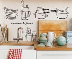 Small&LowCost Decora la cocina con vinilos