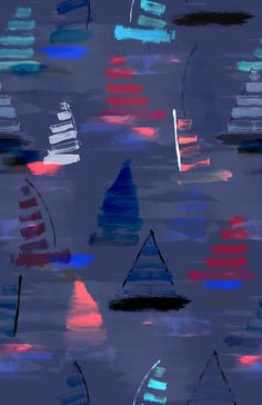 BOATS PRINT PATTERN by ainams ©