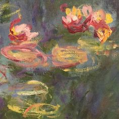 Water Lilies of the Orangerie Museum (Detail) - Claude Monet 1921-22  French 1840-1926