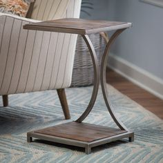 Belham Living Edison Reclaimed Wood C Table - Combining industrial style with found materials and just a dash of Deco chic, the Belham Living Edison Reclaimed Wood C Table is the kind of piece that...